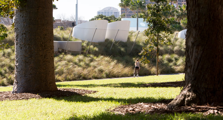 Native grass meadow Prince Alfred Park and Pool. Photo Brett Boardman Pool