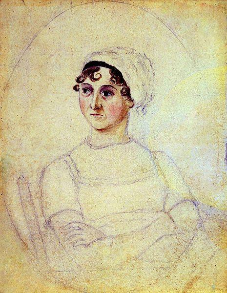 Jane Austen, by her sister Cassandra Austen. c.1810