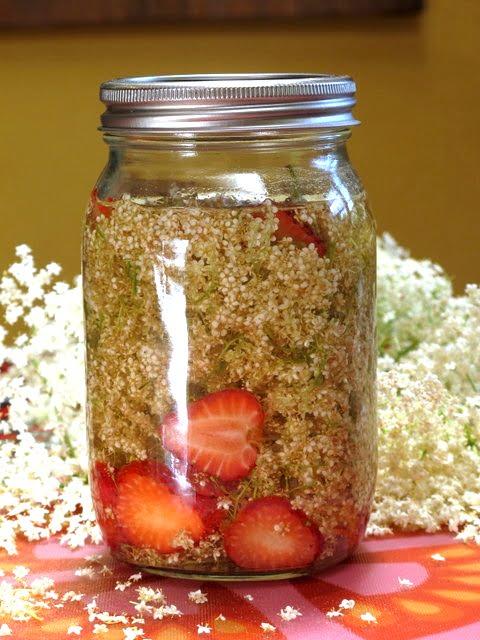 Strawberry & elderflower infused vodka