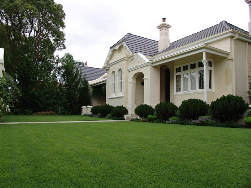 Turf is a low cost option when you want landscaping with a quality finish