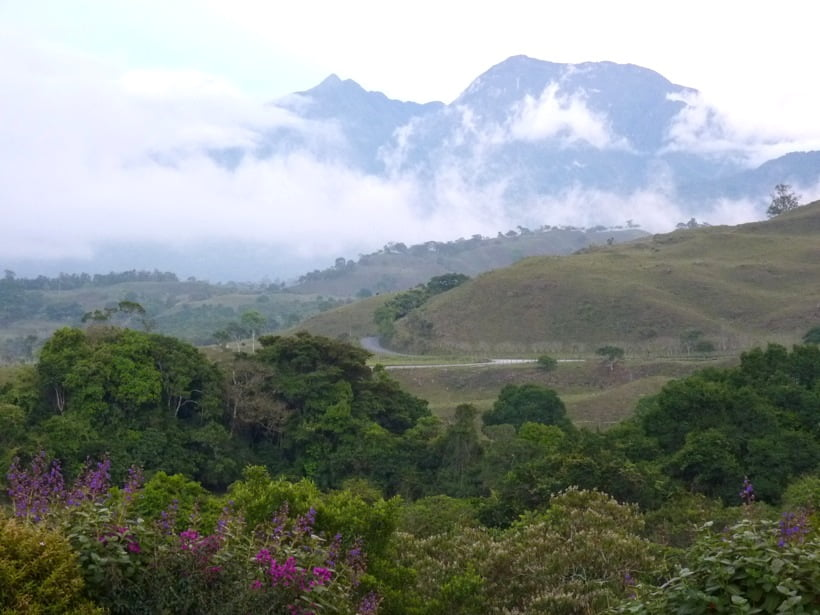 The view of Volcan Baru from my house