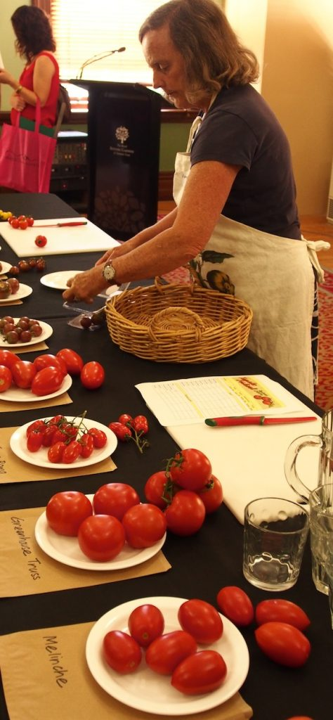 Penny Blazey of Diggers Club prepares our tomatoes