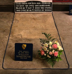Shakespeare's grave in Stratford on Avon. Photo david_jones