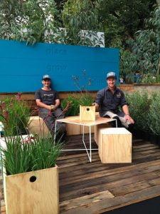 Spade Design relaxing in their garden
