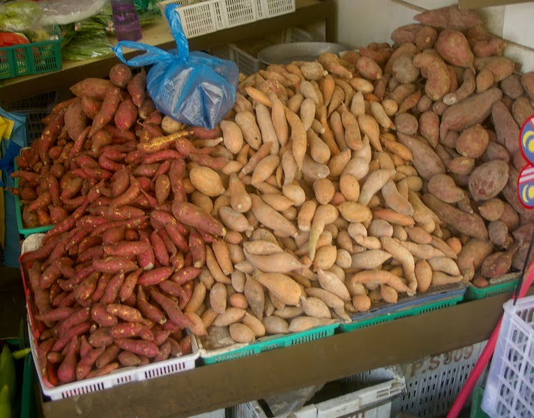 Sweet potatoes come in numerous shapes and colours