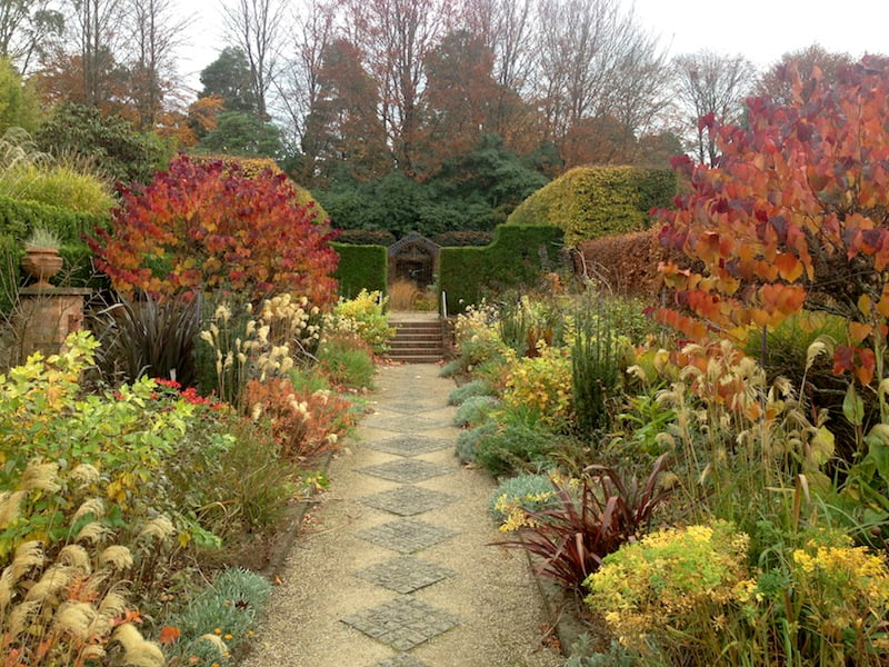 The warm borders at Cloudehill
