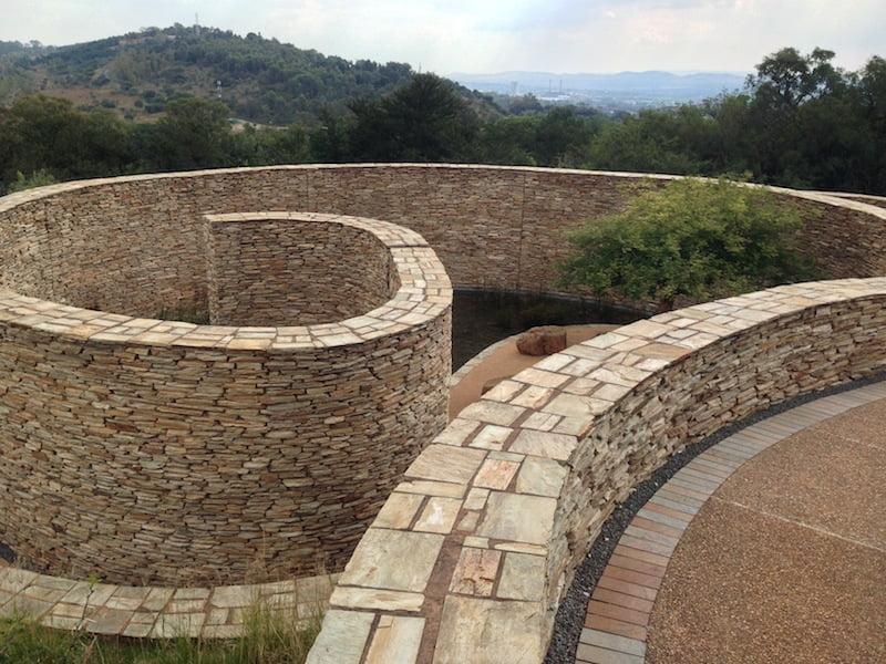 The spiralling walkway