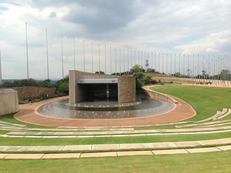 The massive amphitheater