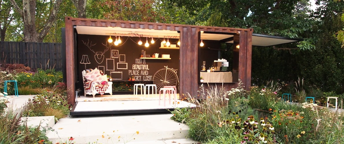 Ian Barker's innovative 'container cafe - MIFGS 2014