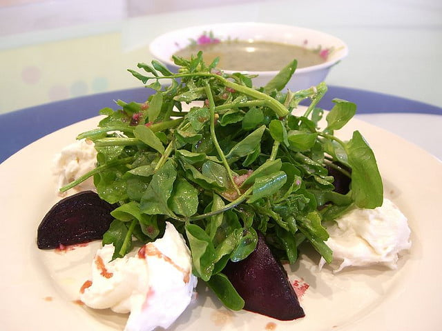 Watercress and beetroot salad Photo by Alpha