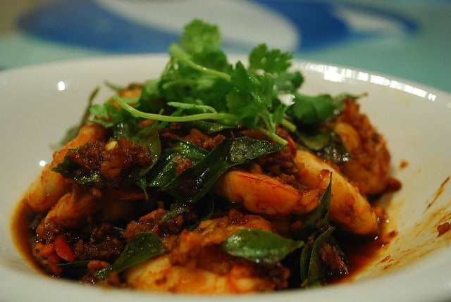 Julia's Prawns with Curry Leaves Photo by Alpha