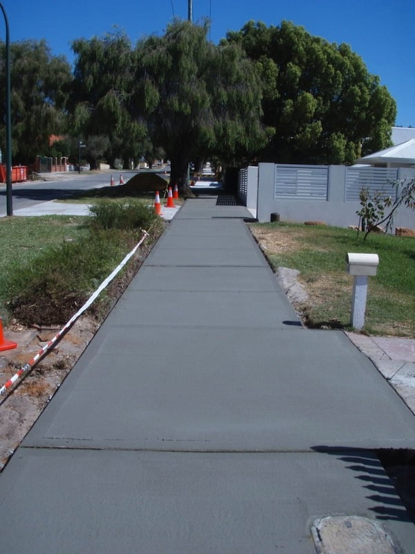 the new footpath