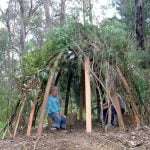 How to make a bush cubby house
