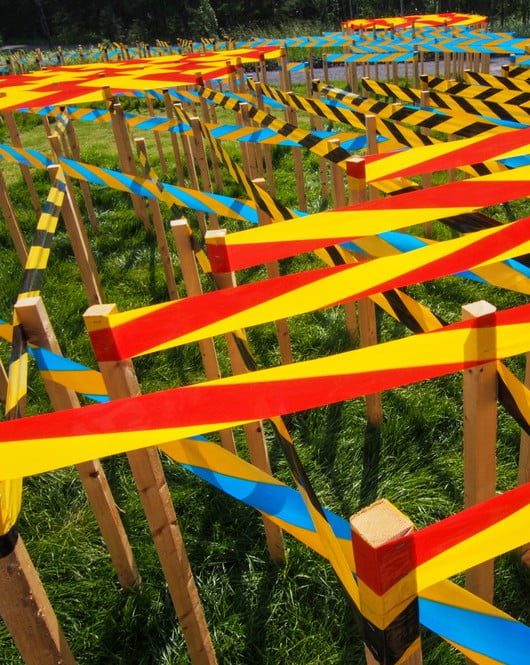 LINE GARDEN by Jamrozik and Brantford Ontario Canada and Bale Switzerland Photo Louise Tanguay via v2com