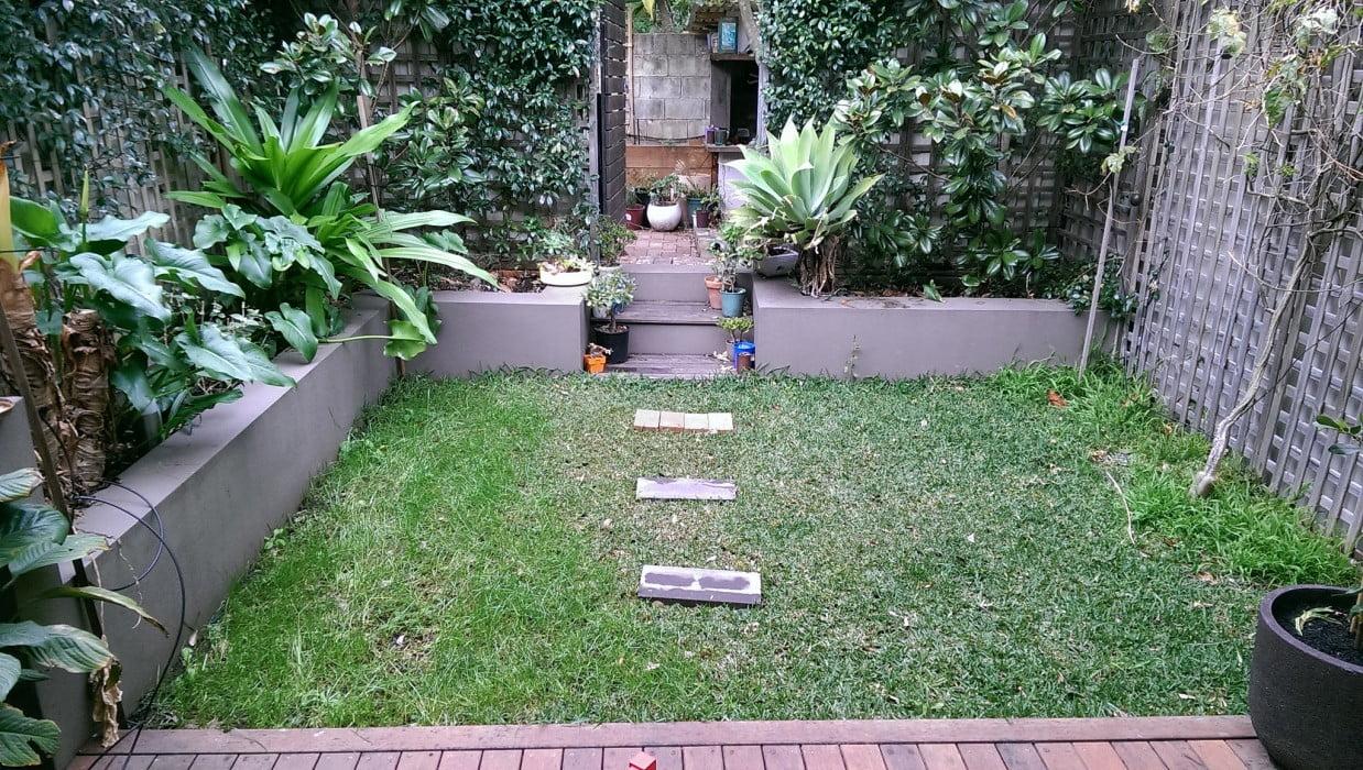 Rehabilitated lawn with improved drainage Photo Richard Harrod