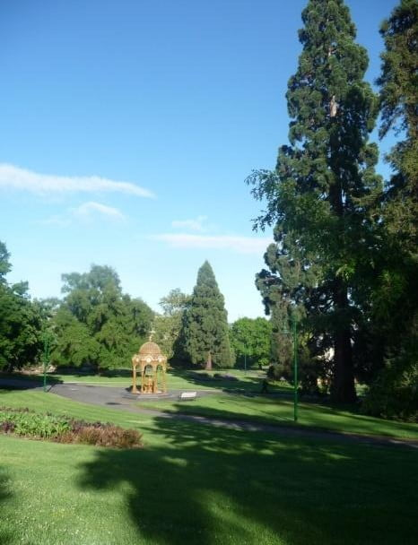 City Park, Launceston- HQ of and magnet for the LHS for many decades Note the sporting selection of redwoods (coastal and Sierra) and lush oaks- show offs!