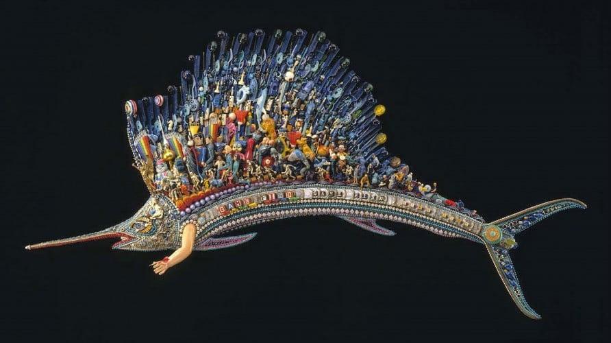 Game Fish by Larry Fuentes, created using found objects, is one of my favorite pieces of art.