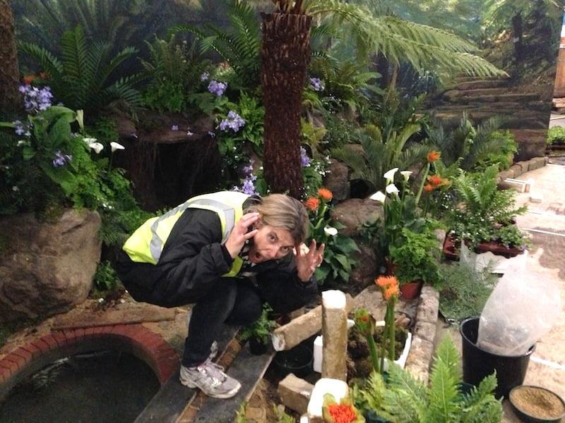 accidents do happen in a show garden build
