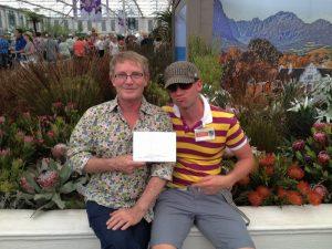 Winning gold at a Garden Show