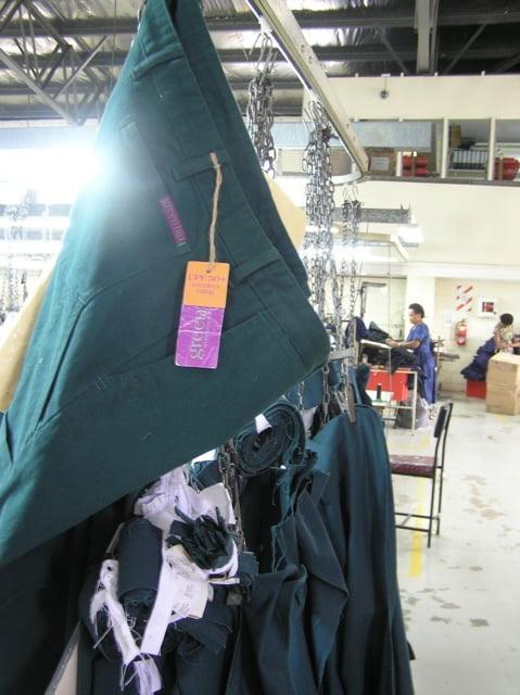 Green Hip Workwear for Women manufacture in Fiji