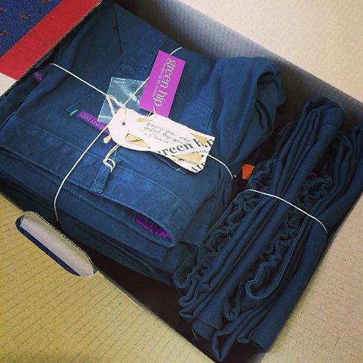 Green Hip Workwear for Women shipment arrives