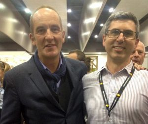 Stephen is congratulated by Grand Designs' Kevin McCloud