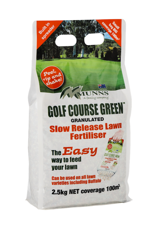 Munns granulated fertiliser with spreader (2.5kg size)