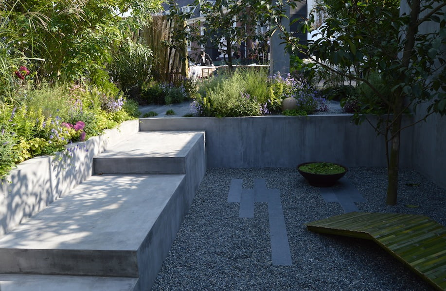 Paul Hervey-Brookes Garden which won Gold; best planting and best in show - show garden