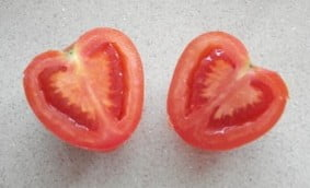 Heart shaped tomato raises money for UK Heart foundation Photo: Wikipedia