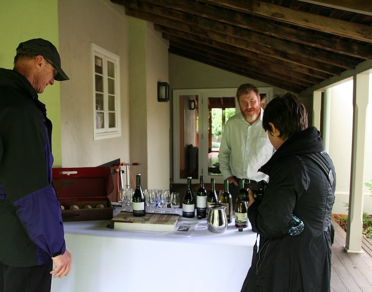 A nice touch - wine tasting by Fowles Winery, the owners of Killeen Homestead on Sunday