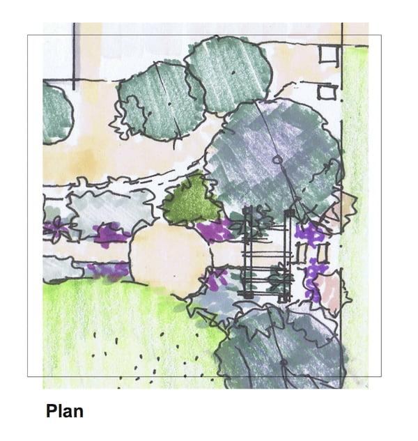 Design Andrew Davies Front garden makeover plan view
