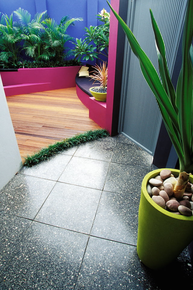 From the front entry gate - courtyard design Janine Mendel Cultivart, Perth