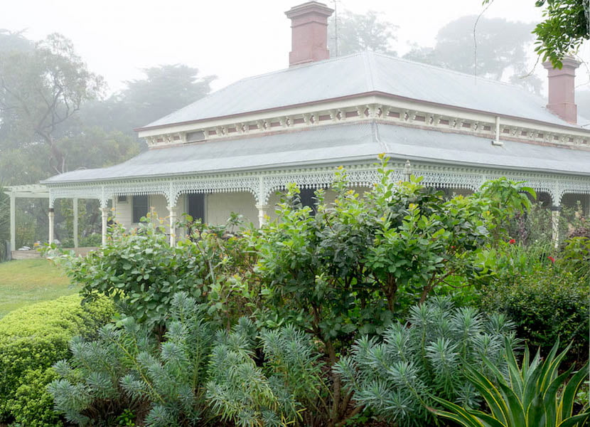 'Cluanie' is once again a loved family home. It is the centrepiece of the garden and looks elegant with the recently returned iron lace around the veranda. Image Anne Vale