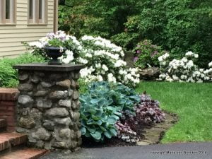 Welcoming pots of color near the front door