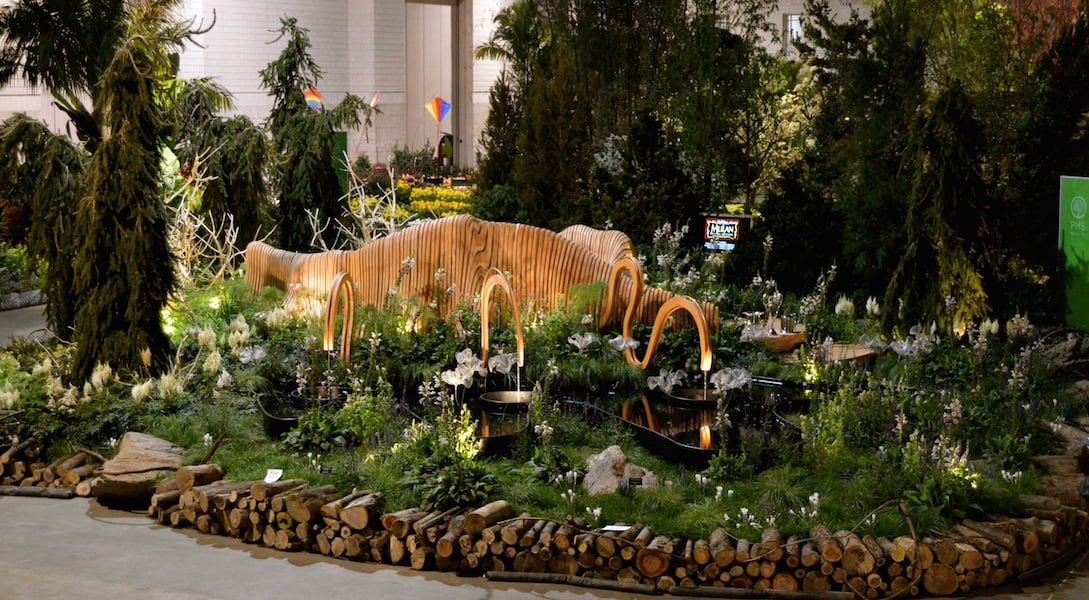 'A Maleficent View' Design Leon Kluge. Best in Show Landscape Philadelphia Flower Show 2015