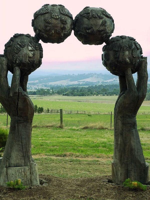 Ball sculpture at Lubra Bend