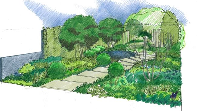 Charlie Albone 'The Time In Between' show garden design for the Chelsea Flower Show 2015