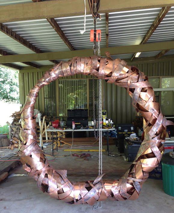 Copper sculpture for 2015 Chelsea Flower Show garden, designed by Charlie Albone and Luke Storrier
