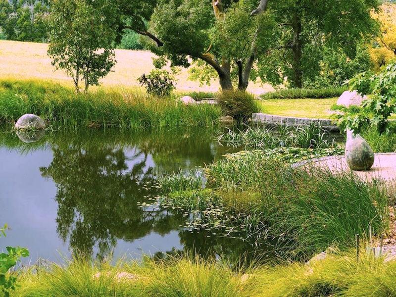 Water garden at Lubra Bend. Design Phillip Johnson