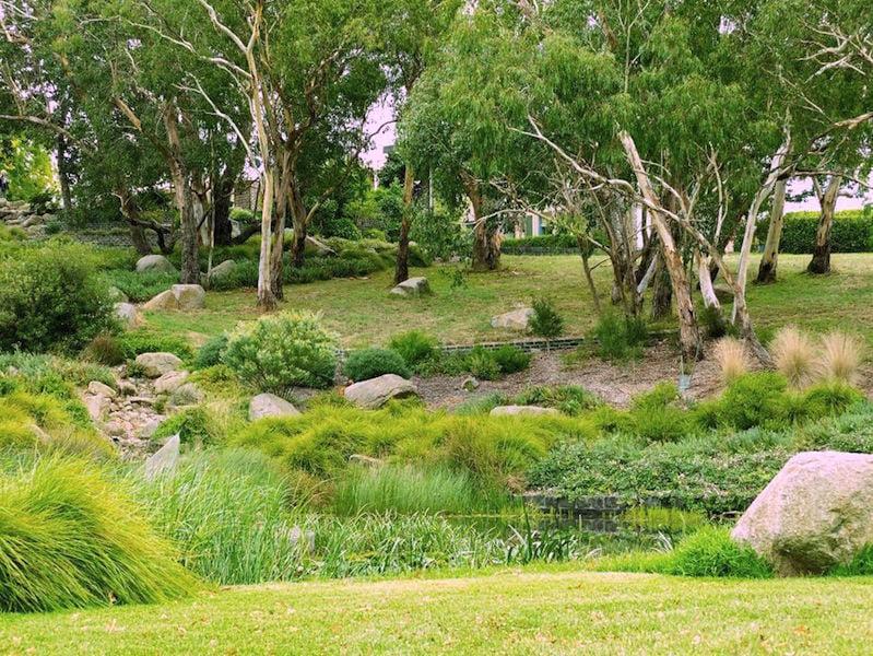 Johnson designed landscape at Lubra Bend