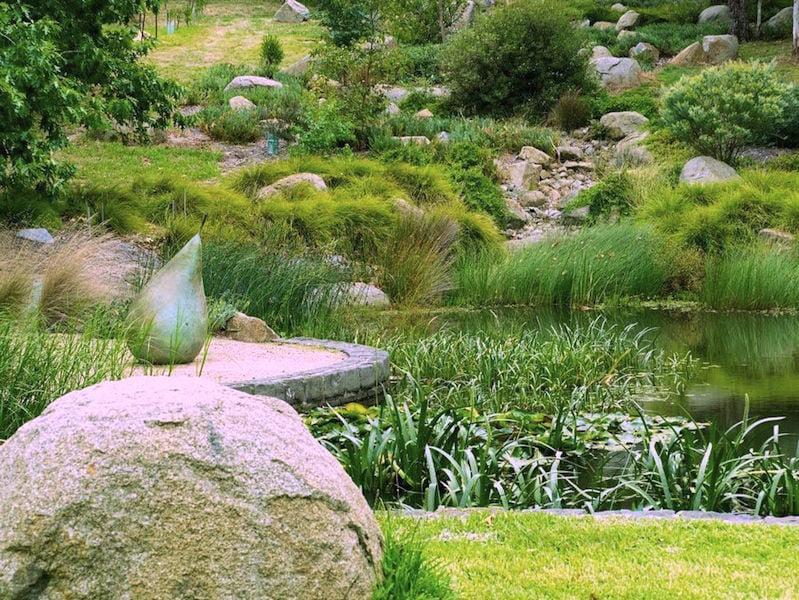 Lubra Bend water garden. Design Phillip Johnson