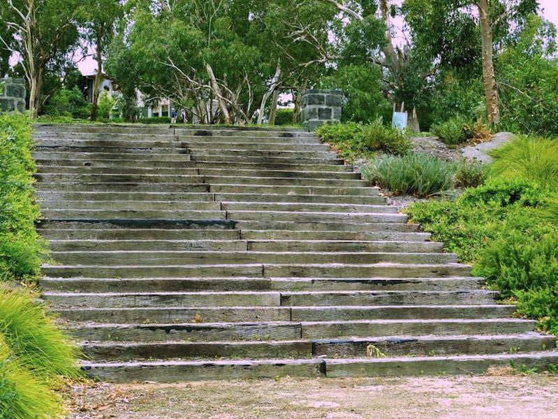 Johnson's 'Aztec steps'
