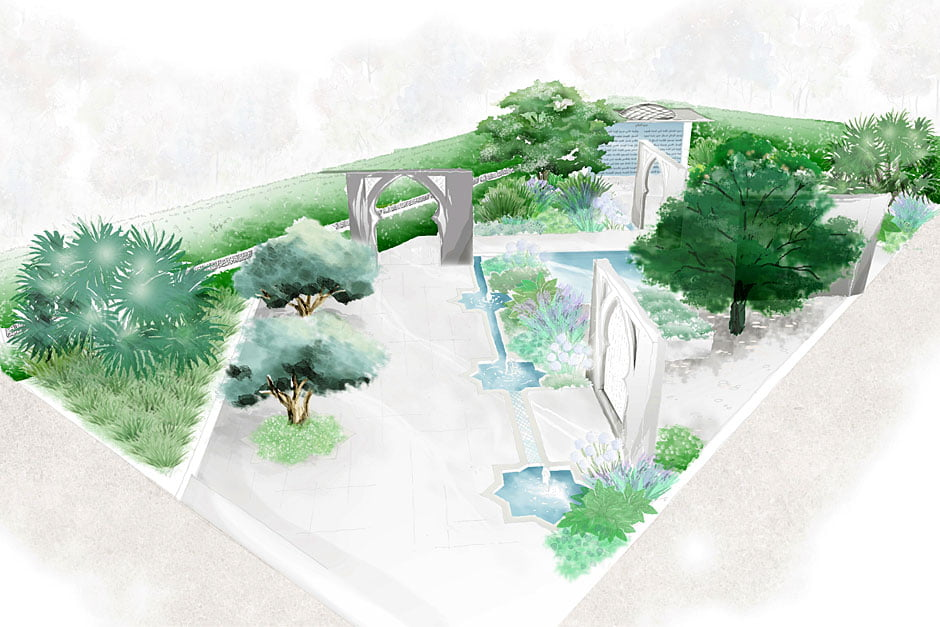 'The Beauty of Islam' garden for the Chelsea Flower Show 2015. Design Kamelia bin Zaal