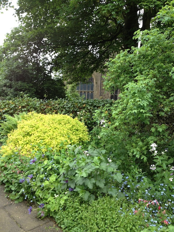 The garden at Haworth Parsonage, home of the Brontës