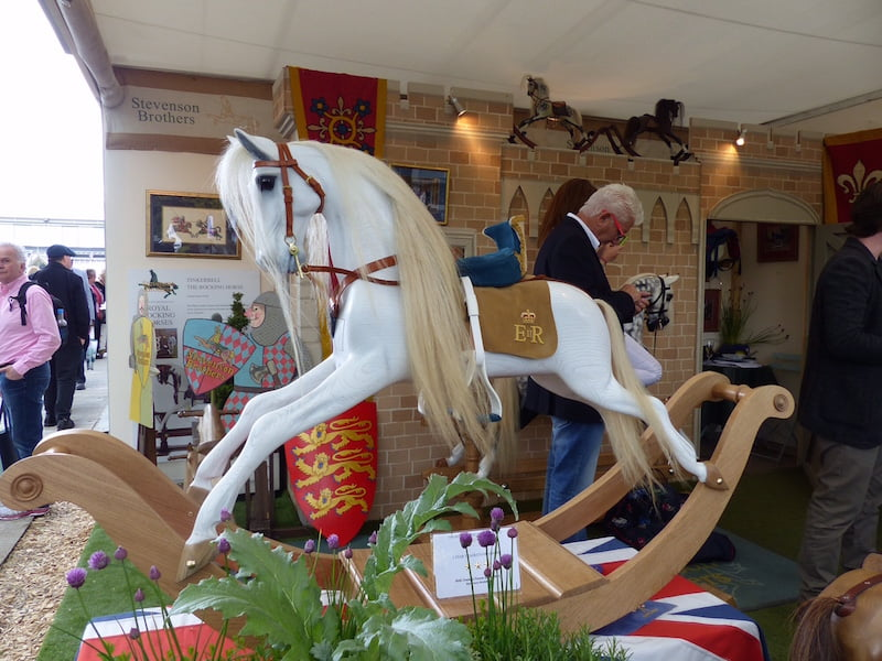 Rocking horse, hand carved of course. This is No.2 in a limited edition commemorating the 800th anniversary of the signing of the Magna Carta. No. 1 was presented to the queen last week. Yours for 9000 pounds.
