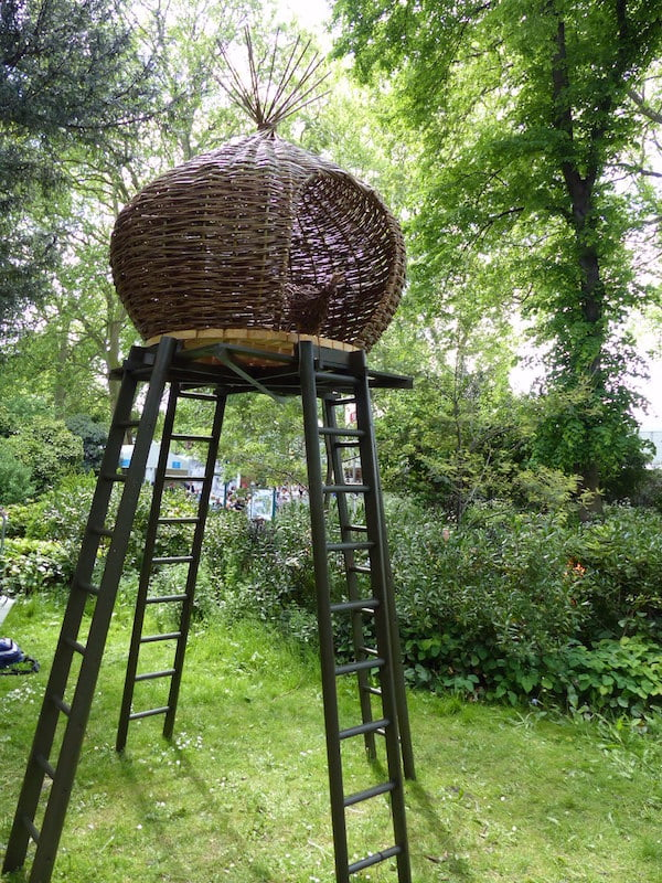 Nesting cubby house at the Chelsea Flower Show 2015