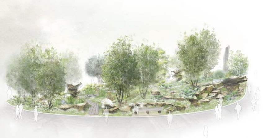 Laurent-Perrier Chatsworth Garden, sketch plan designed by Dan Pearson