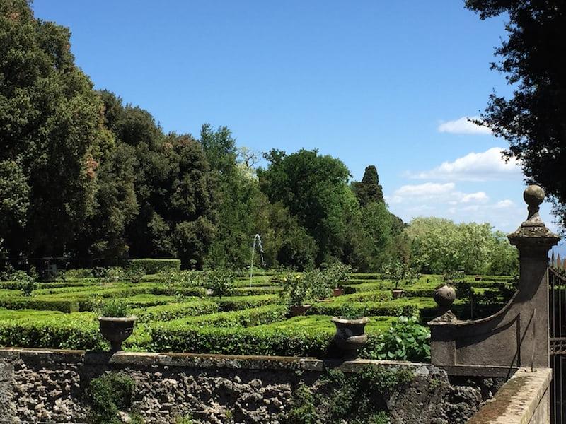 Views in: formal planting, Castello Ruspoli
