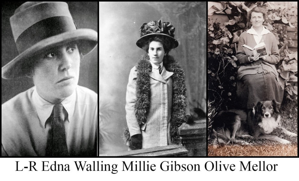 Edna Walling, Millie Gibson & Olive Mellor three successful Burnley graduates: Photos courtesy SLV