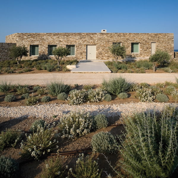 Private residence. Antiparos, Greece. Landscape designed by doxiadis+. House designed by Katerina Tsigarida Architects. Photo by Cathy Cunliffe 2011